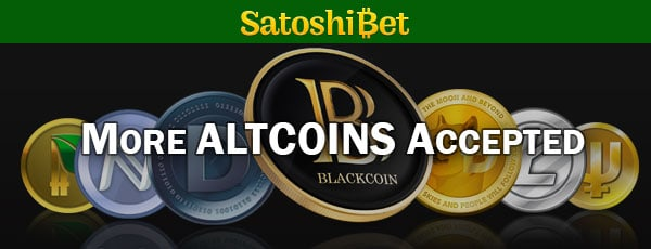 SatoshiBet Accepts Altcoins
