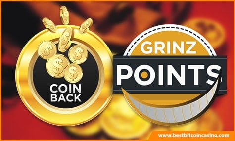 4Grinz Coin Back and Grinz Points