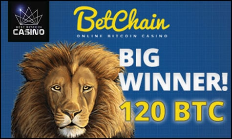 BetChain players doubles 120 BTC jackpot