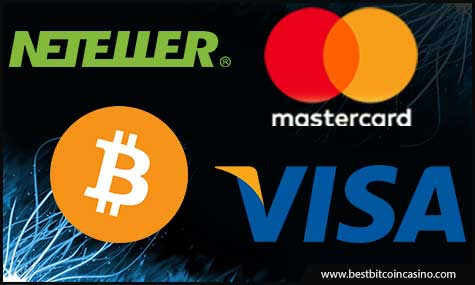 Real-money and Bitcoin payment methods