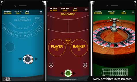 OneTouch creates blackjack, baccarat, and roulette games