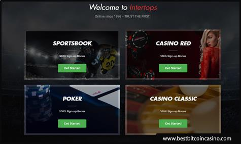 Play games and place bets on Intertops using Bitcoin