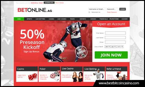 BetOnline.ag sports new look and features